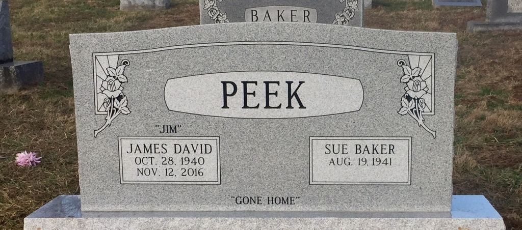 The Monument of James David Jim  Sue Baker Peek
