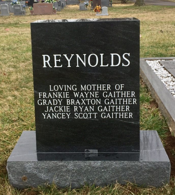 The Monument of Patricia Ann Pat Reynolds
