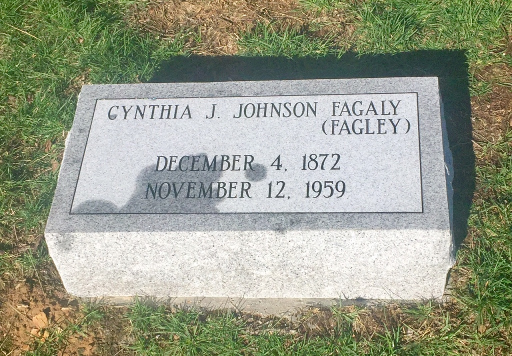 The Monment of Cynthia J. Johnson Fagaly Fagley