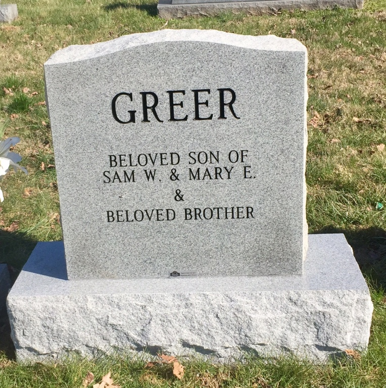 The Monument of William Sampson Billy Greer, Jr.