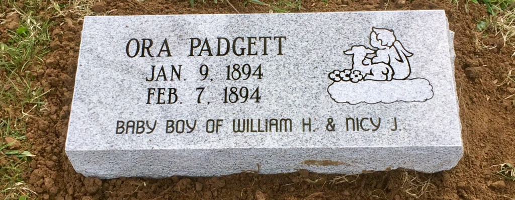 The Monument of Ora Padgett infant
