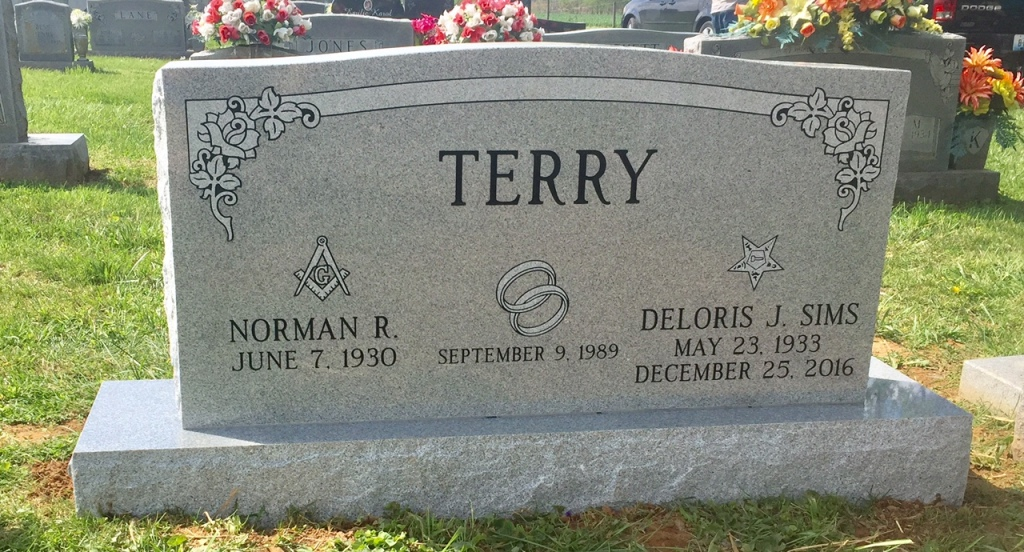 The Monument of Norman R.  Deloris J. Sims Terry