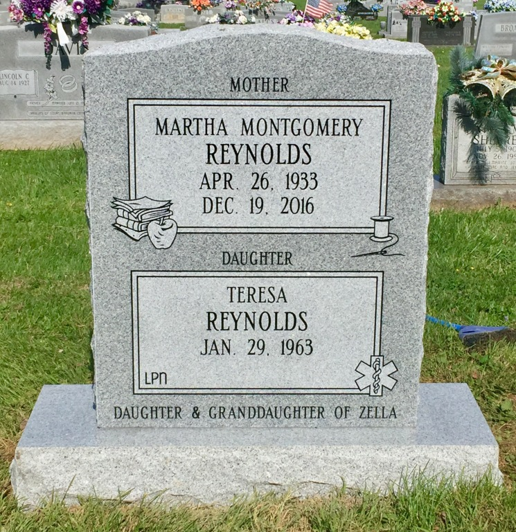 The Monument of Martha Montgomery Reynolds  Teresa Reynolds