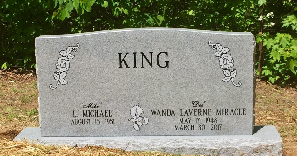 The Monument of L. Michael Mike  Wanda LaVerne Dee Miracle King