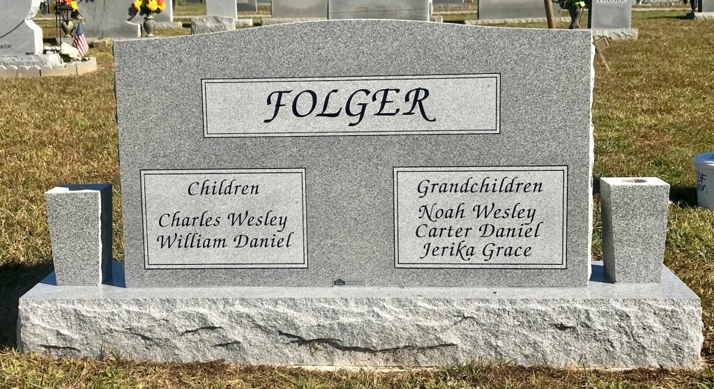 The Monument of Charles L.  Ruth M. Gerkey Folger