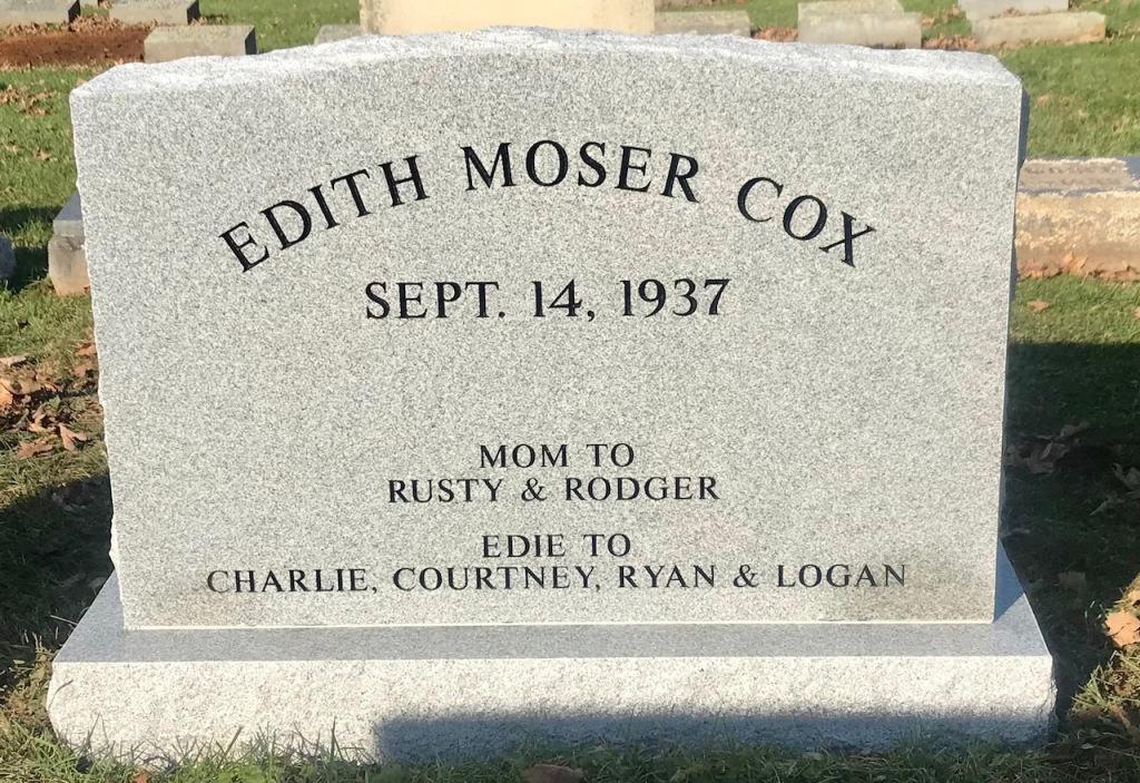 The Monument of Edith Moser Cox