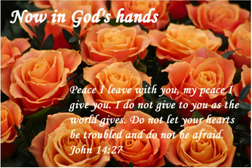 Now in God's Hands...