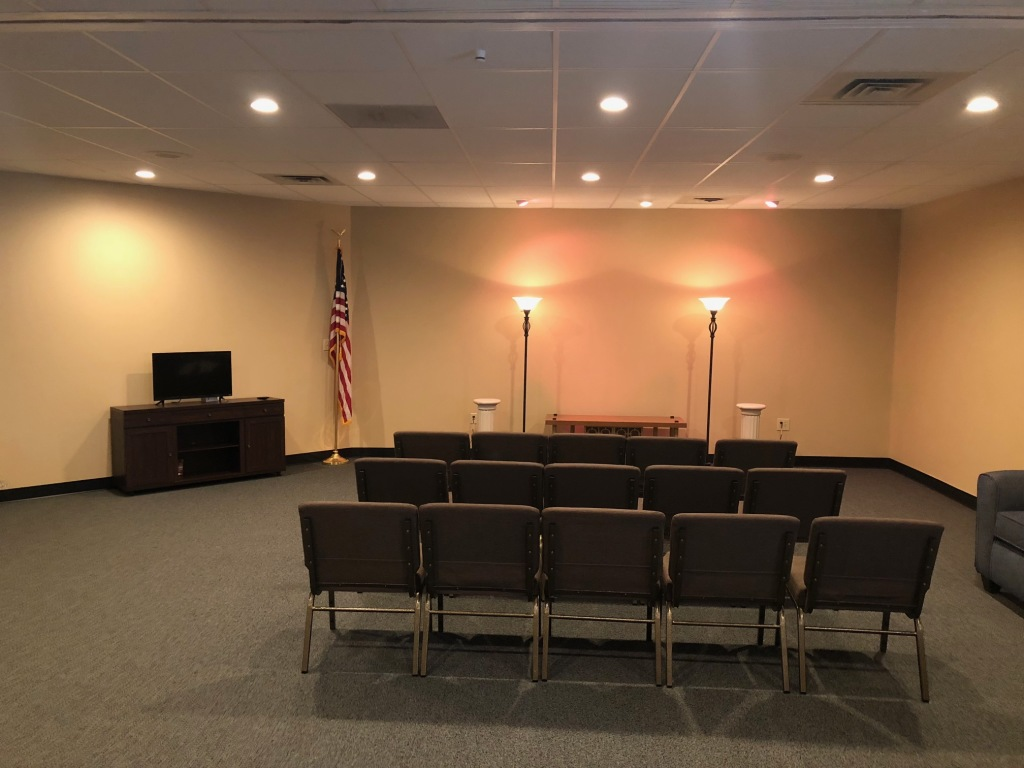 Our Parlor/Chapel-Capable of seating over 100
