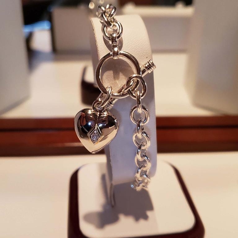 Heart cz bracelet $260