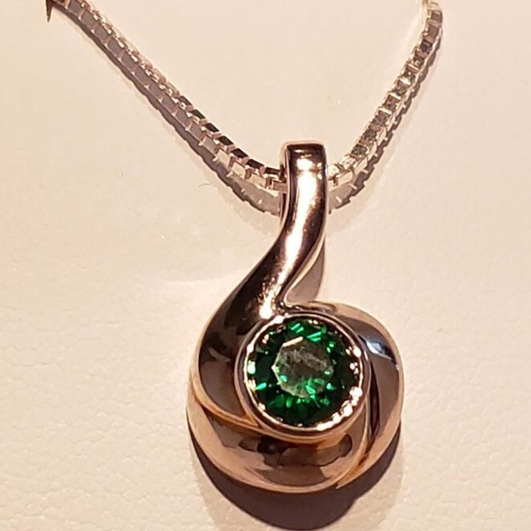 Silver swirl birthstone $180