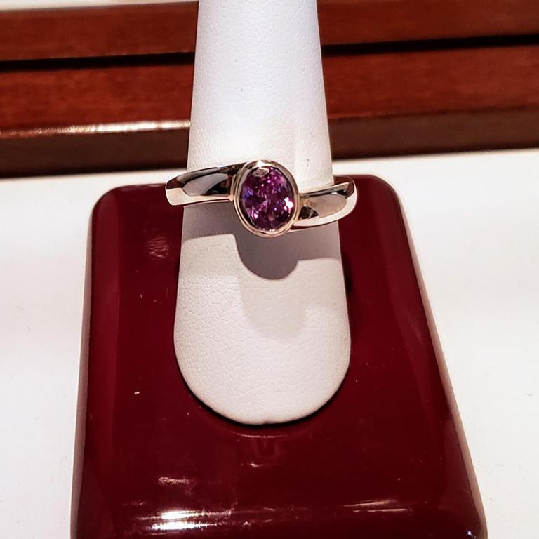 SS ring birthstone $180