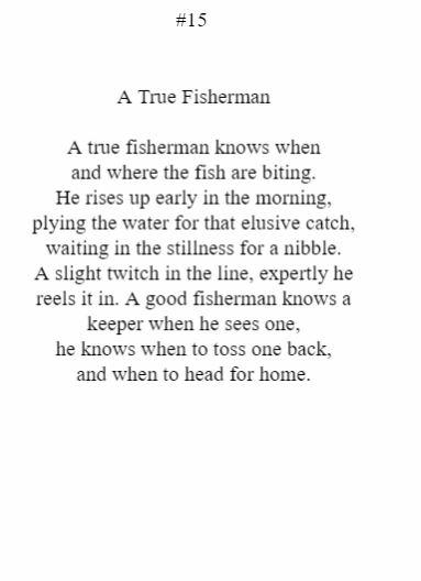 A True Fisherman