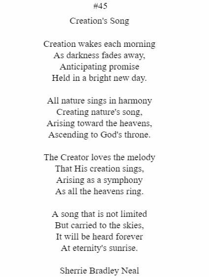 Creation's Song
