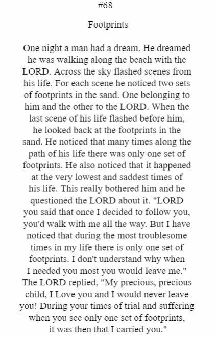 Footprints (Third Person)