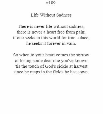 Life Without Sadness