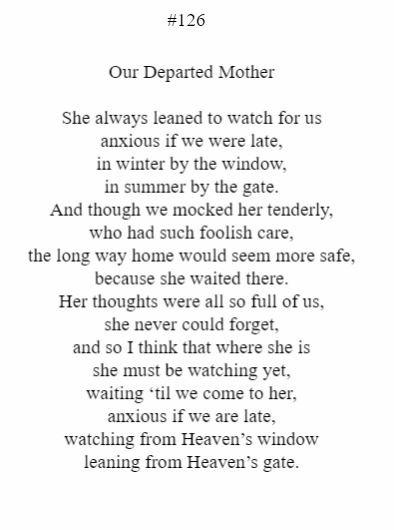 Our Departed Mother