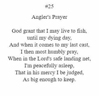 Angler's Prayer