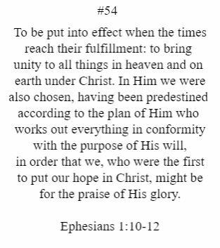 Ephesians 1:10-12