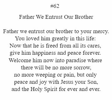 Father We Entrust Our Brother
