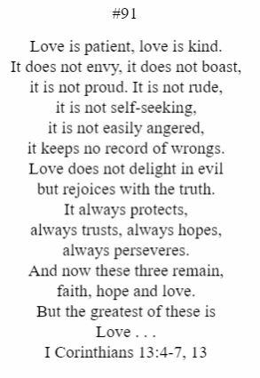 I Corinthians 13:4-7, 13