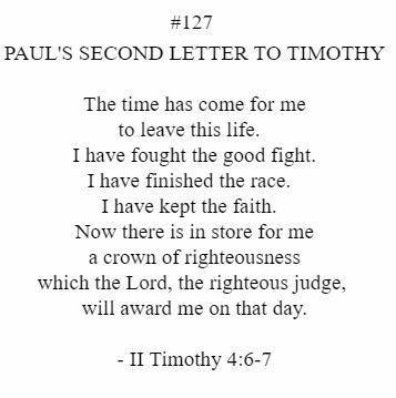 II Timothy 4:6-7