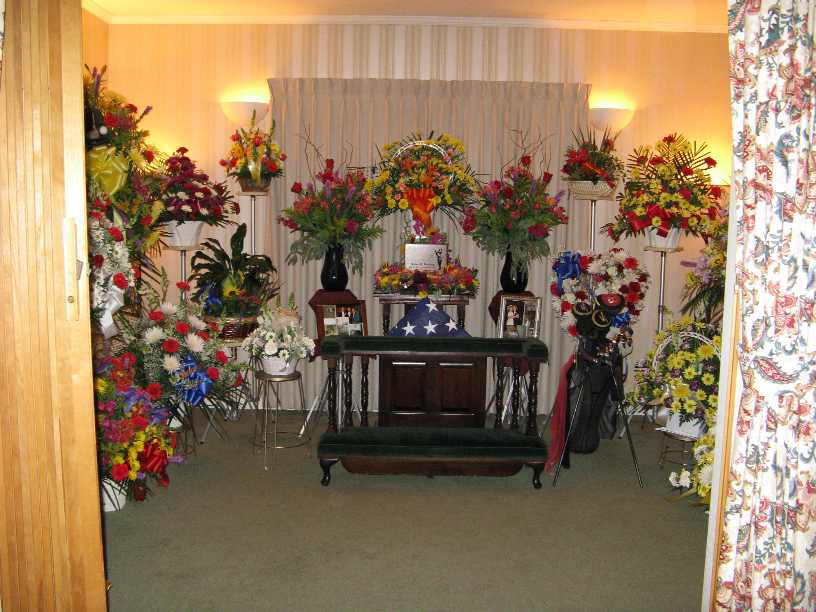 Memorial Service  Casket Room