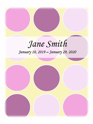 Baby Girl Pink Mosaic no photo