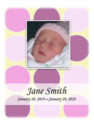 Baby Girl Pink Mosaic w-photo