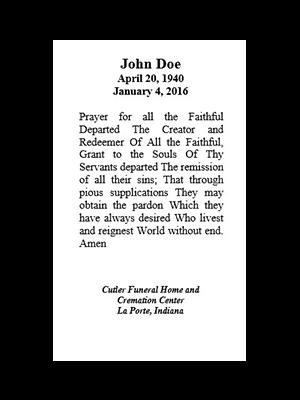 Prayer for Departed
