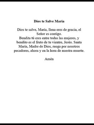 Dios te Salve Maria poem