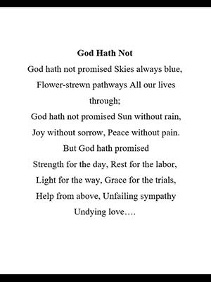 God Hath Not