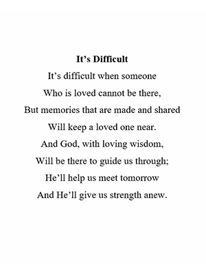 It's Difficult