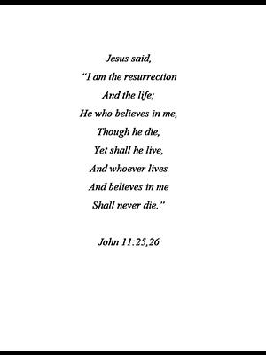John 11: 25, 26