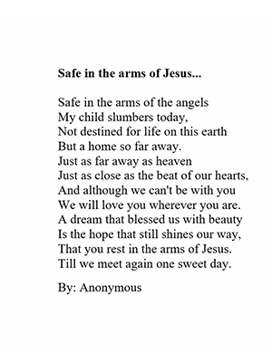 Safe In The Arms of Jesus poem