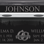 Cremation Pedestal Bench - Jet Black