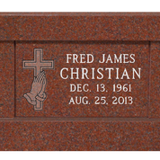 Cremation Panel Bench - India Red