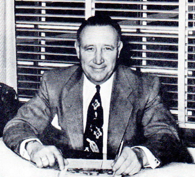 Frank Randall at his desk (Circa 1954)