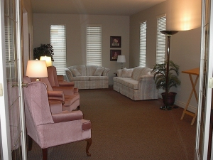 A cozy room for a small service or a quiet visitation for your loved one.