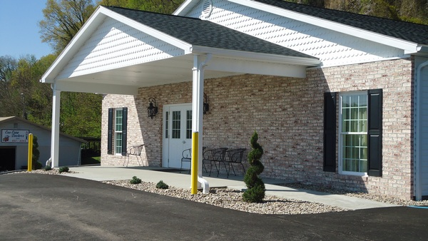 The outside of the funeral Home