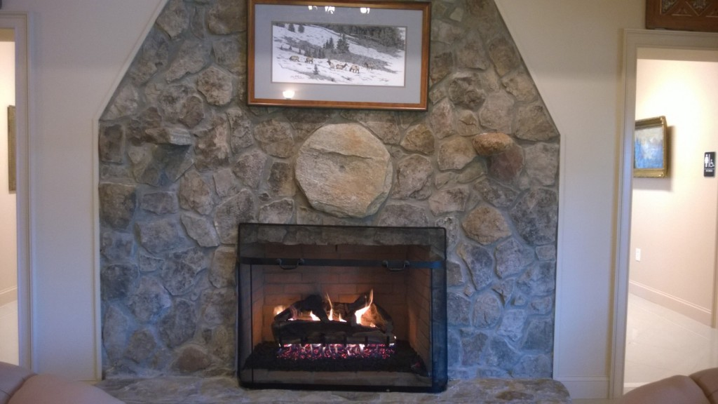 Fireplace at Funeral Home
