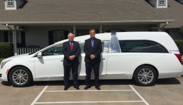 Wiley Funeral Home in Granbury, Texas take delivery of a new 2017 hearse and limousine Thank you all for your continued business