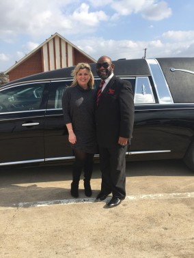 Gerald Weatherall of Eternal Rest Funeral Home in De Soto, TX takes delivery of 2017 Superior.