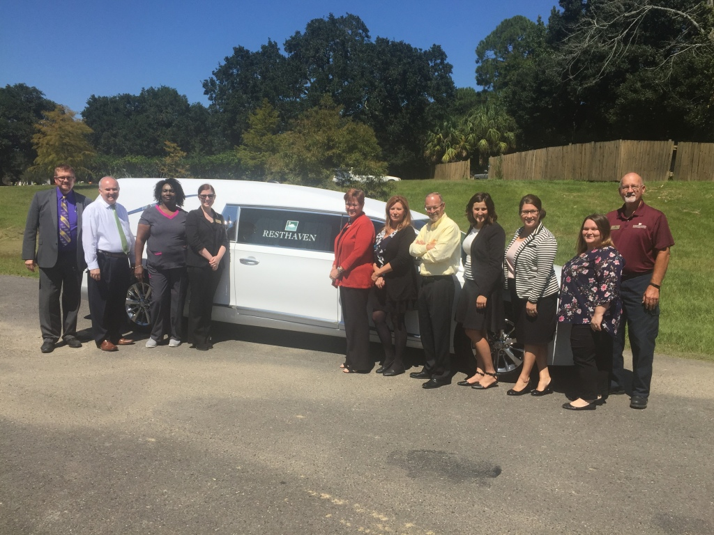 Resthaven Funeral Home in Baton Rouge, LA Legacy Funeral Group -  takes delivery of 2017 Superior