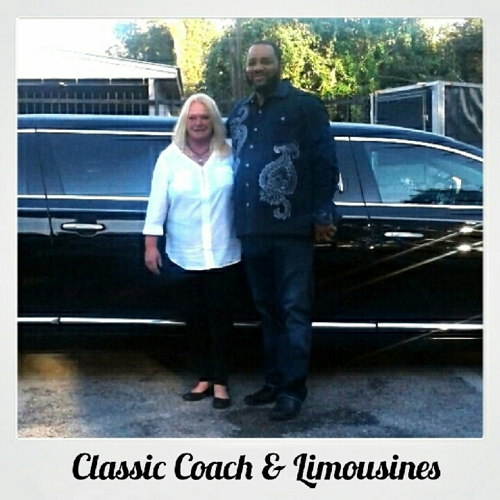Keith McDuffie of McDuffies Mortuary in Houston accepts delivery of 2014 Cadillac Federal Six Door.