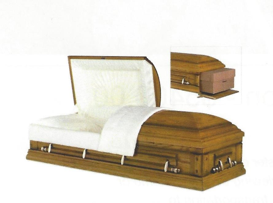 Ceremonial Oak casket