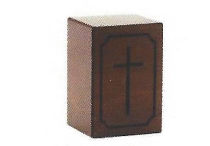 Veneer Cross Urn