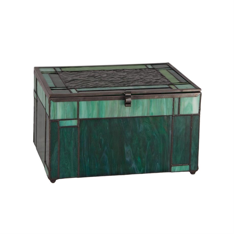 Evergreen Glass Urn