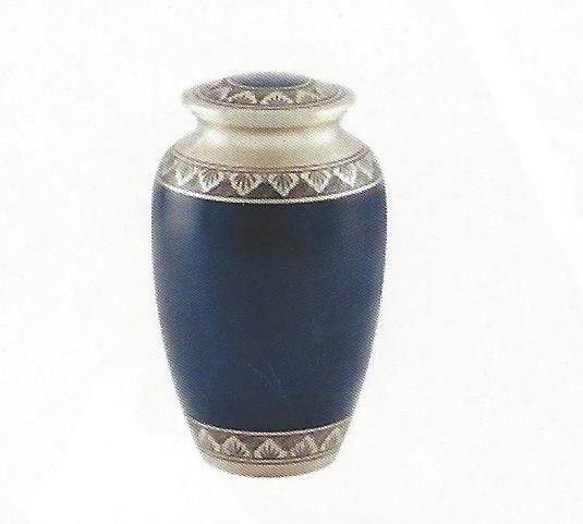 Athens Blue Pewter Urn