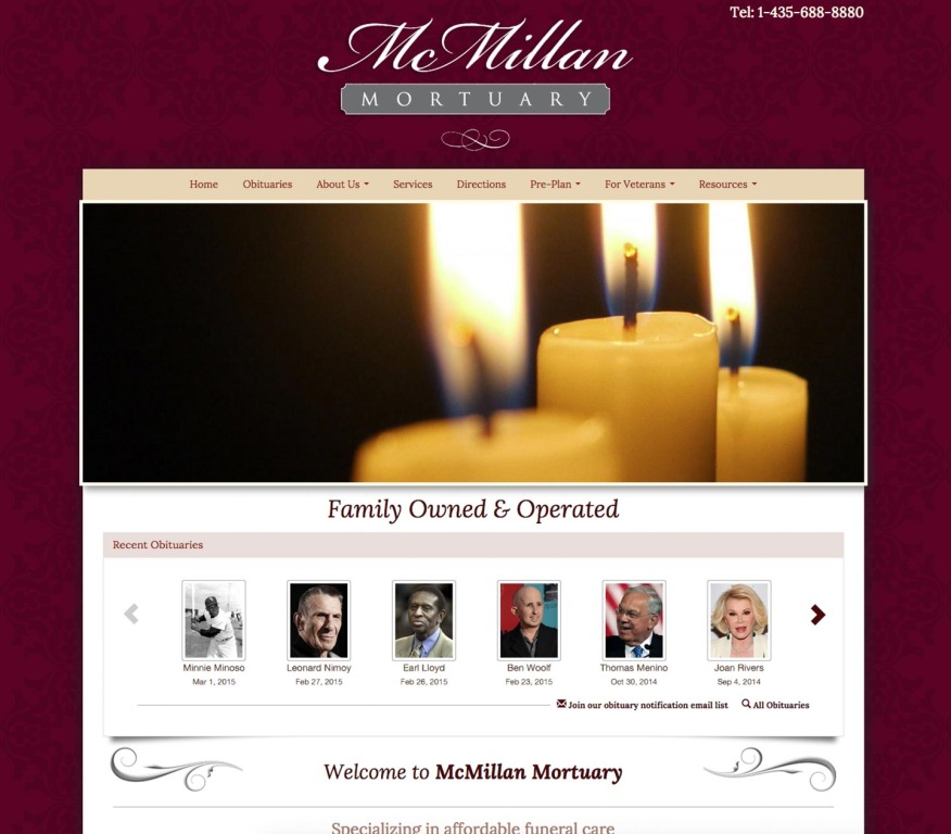 Funeral home website design by funeralone house design plans - Funeral home web design ...