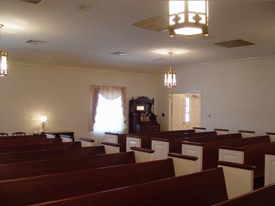 Chapel holds 180 people availability to add seating